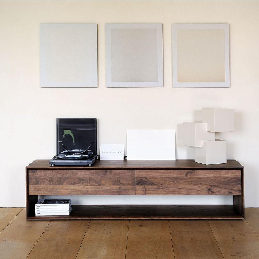 NordicTV  Mobile porta TV Ethnicraft in legno diverse