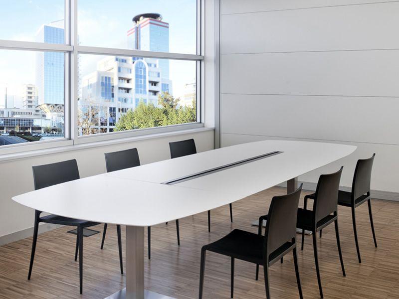 Plano  Tavolo Pedrali da riunione in metallo con piano