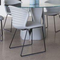 Marshmallow: Tonon metal chair, with polyurethane seat ...