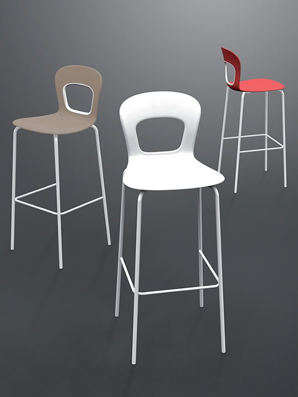 Blog S  Sgabello alto in metallo impilabile disponibile in diverse altezze e colori anche