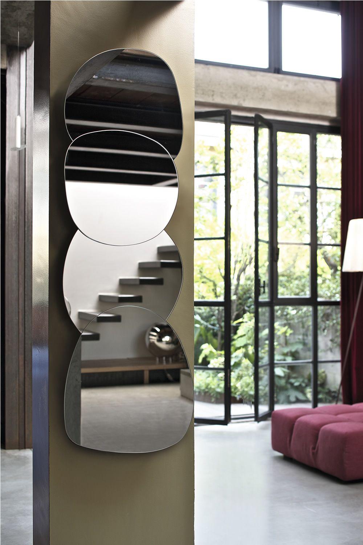 Ciotolo  Specchio di design Bontempi Casa composto da 3 o 4 moduli orizzontale o verticale