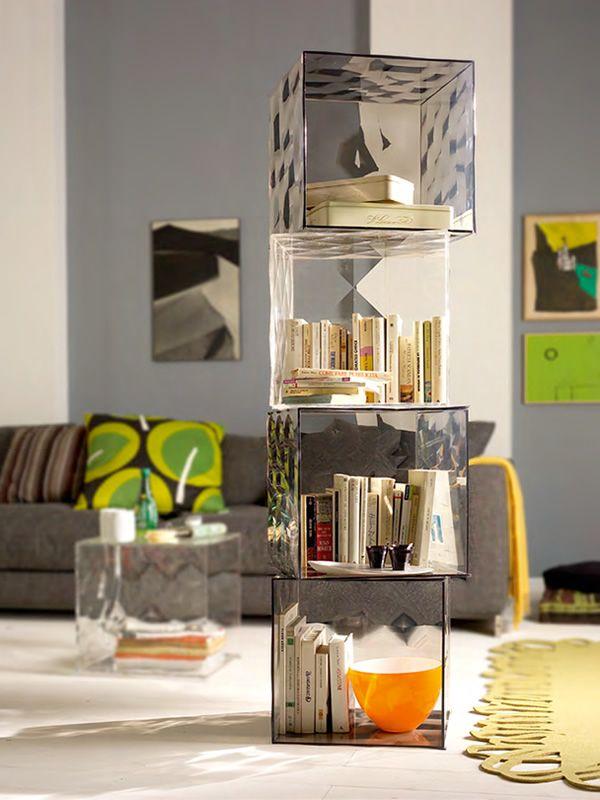 Optic  Cubo contenitore Kartell di design con o senza anta diversi colori anche per esterno