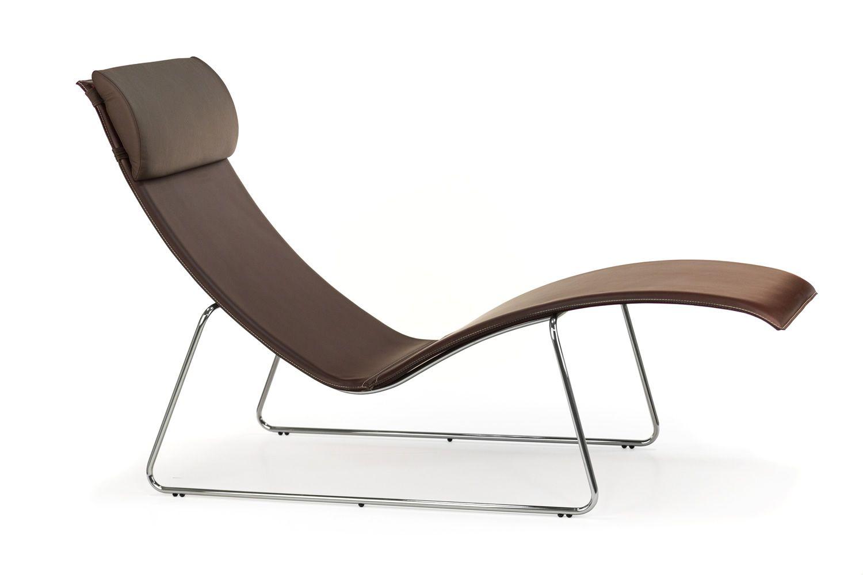 Relax  Chaise longue Midj in metallo e cuoio cuscino in similpelle  Sediarreda