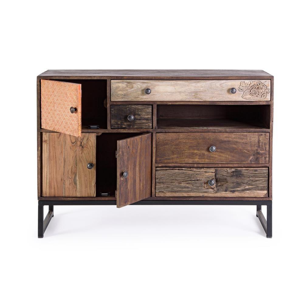 Abuja 3A4C  Mobile vintage per soggiorno in legno con