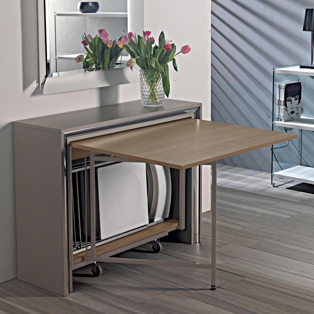 Archimede C  Consolle con tavolo pieghevole 170 x 90 cm