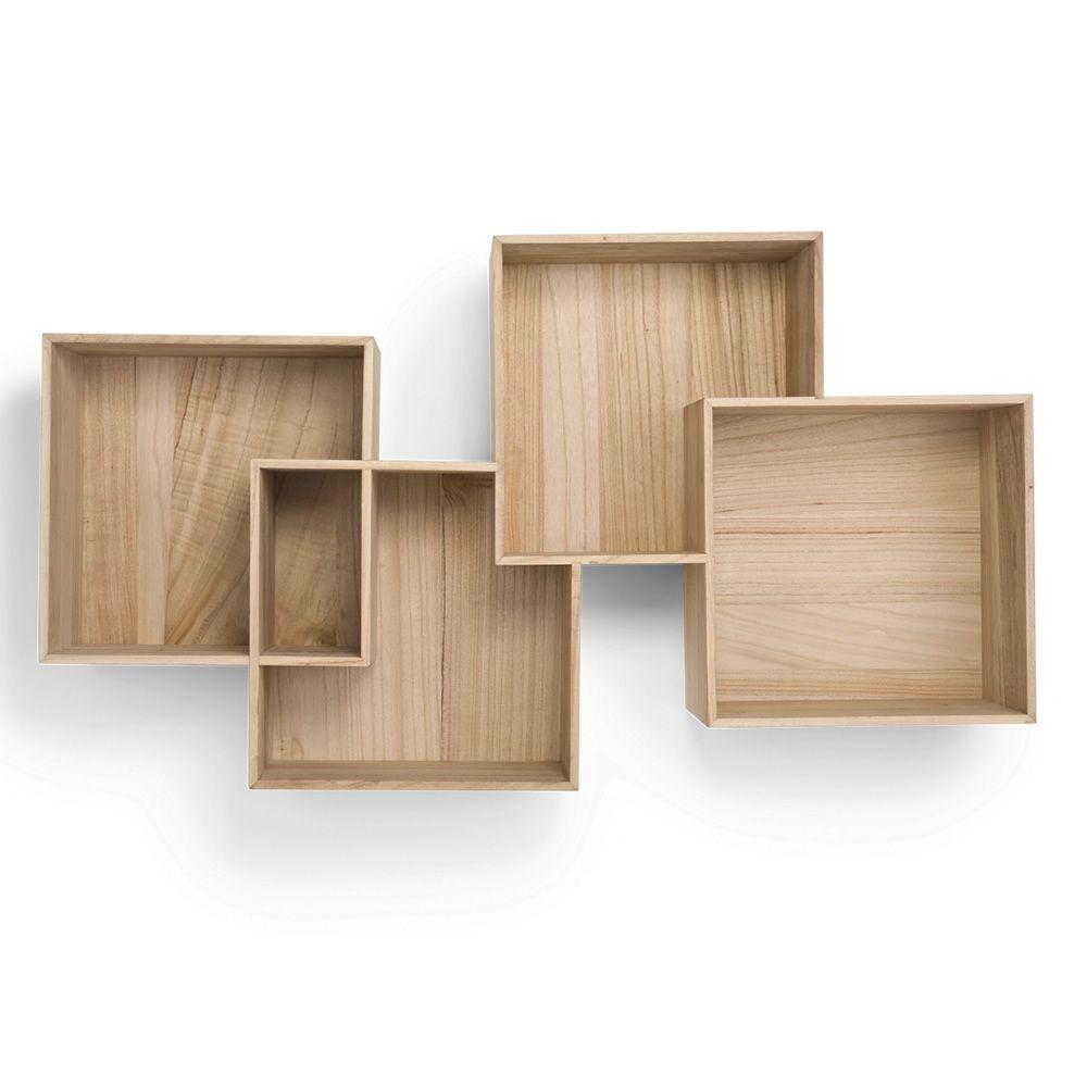 Quadro  Libreria modulare da parete in legno
