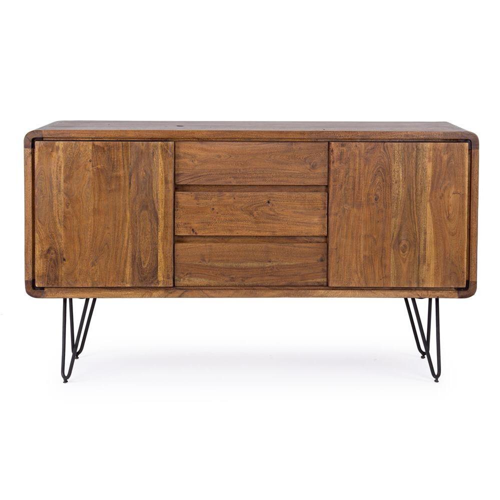 Nairobi Cabinet  Credenza vintage in legno e metallo