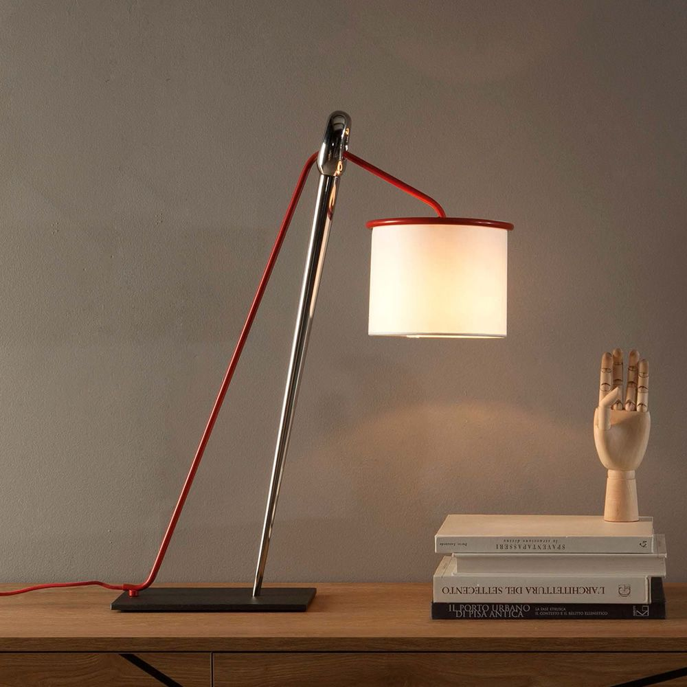 Ago e Filo 9105  Lampada da tavolo Tonin Casa in metallo e tessuto  Sediarredacom