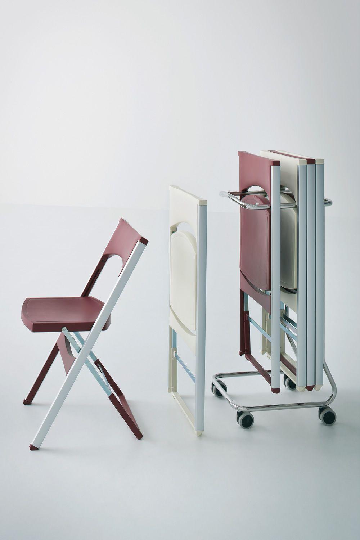 Compact  Sedia pieghevole anche per esterno in metallo e