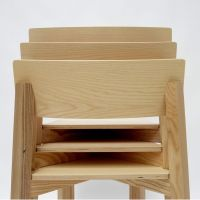 Simple One: Valsecchi stackable chair made of ash wood ...