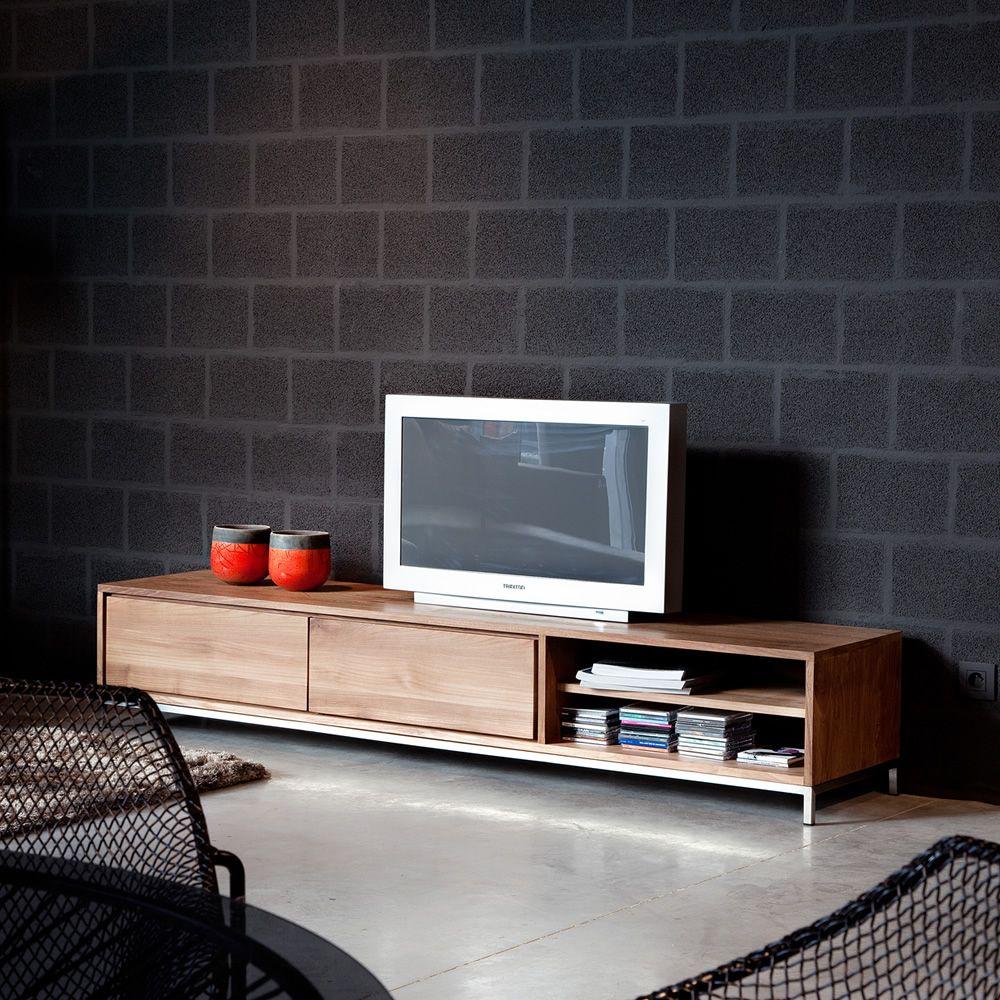 EssentialTV  Mobile porta TV Ethnicraft in legno con cassetti diverse misure disponibili