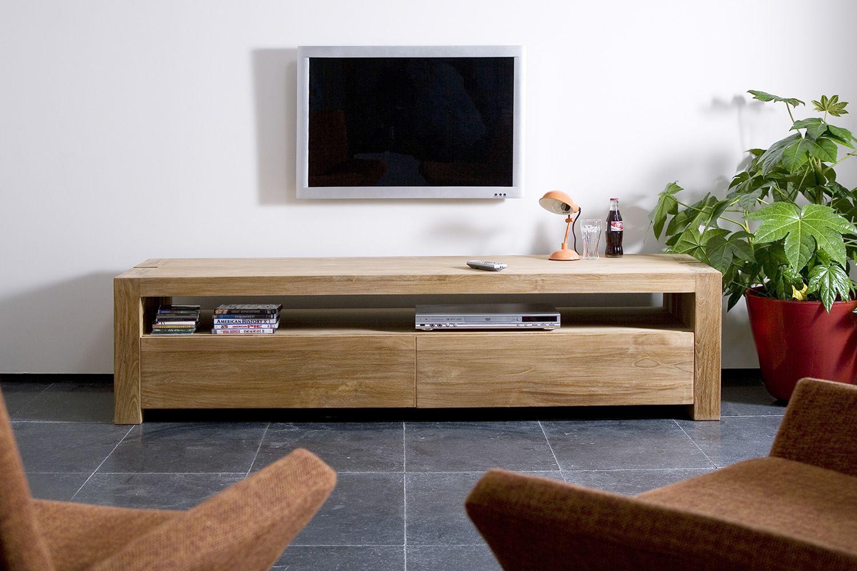 DoubleTV  Mobile porta TV Ethnicraft in legno con