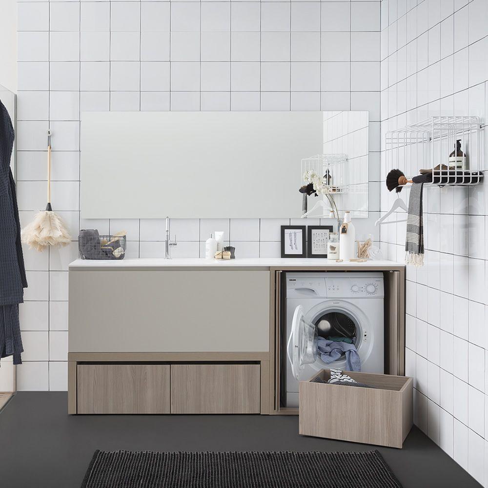 Mueble De Bano Para Lavabo Y Lavadora