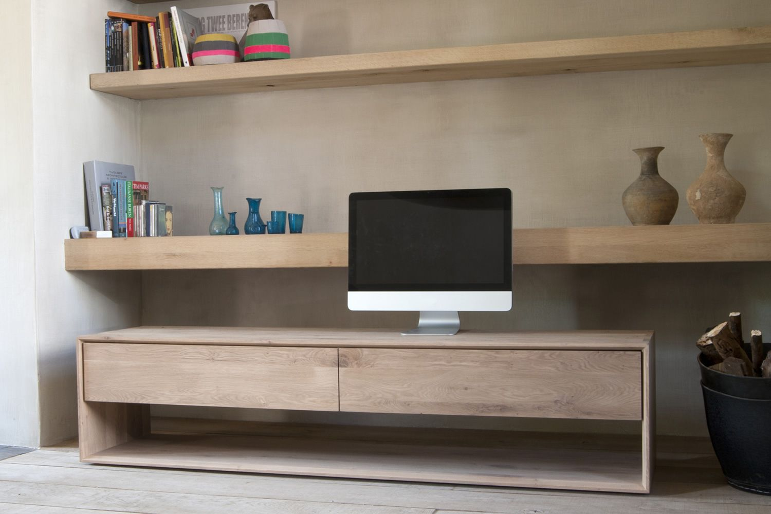 NordicTV  Ethnicraft TV stand made of wood different