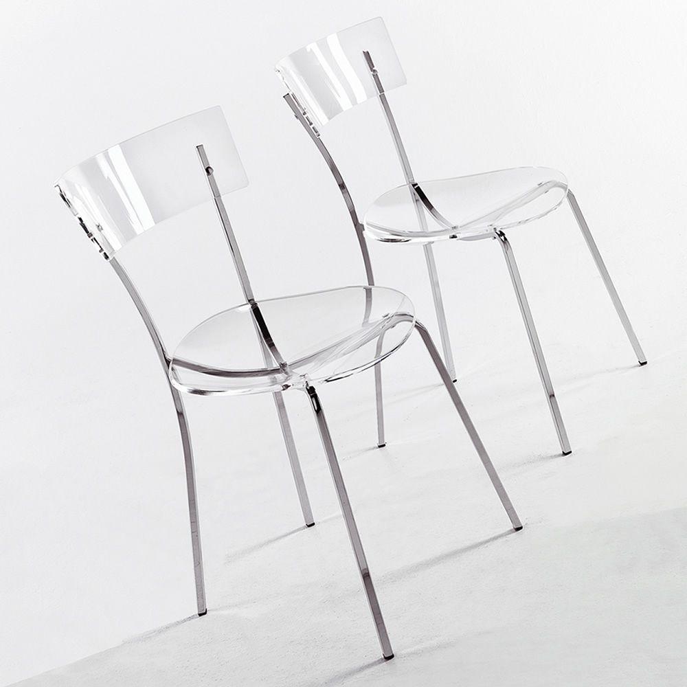 Ice  Silla moderna de Colico Design metal cromado y