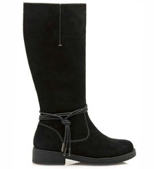 Δερμάτινες μπότες Sonnax black suede (26520)