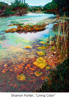 Sharron Porter painting