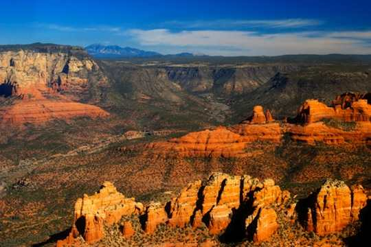 Simple Wallpapers Colors Fall Coconino National Forest Red Rock Sedona Comprehensive