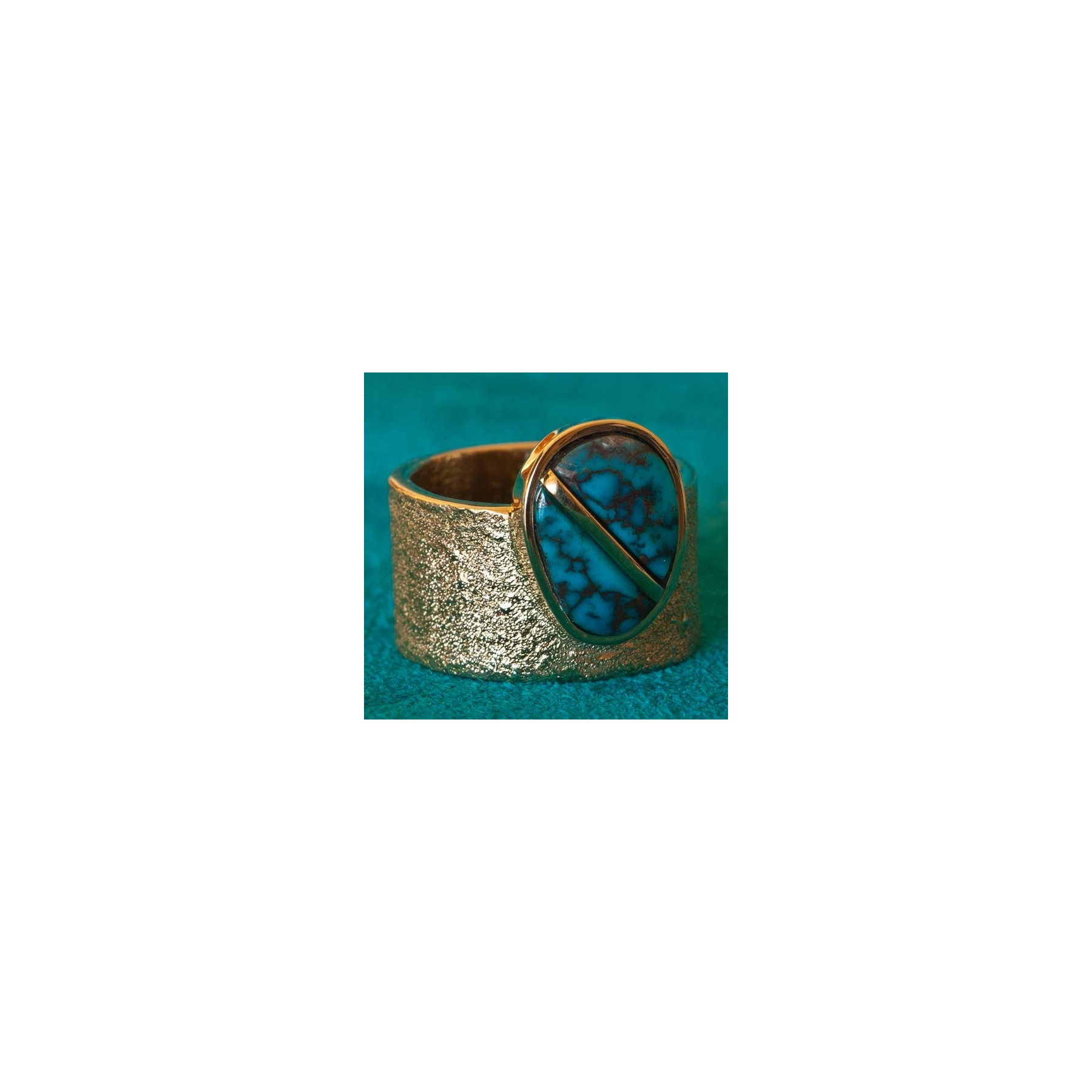 Turquoise Ring Wes Willie 14K Gold