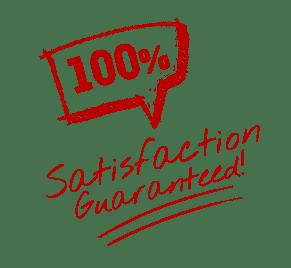 100% Satisfaction Guarantee - Hand Drawn Red
