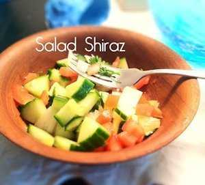 Salad Shiraz Persian salad that is refreshing and tasty, a recipe from Seduction in the Kitchen
