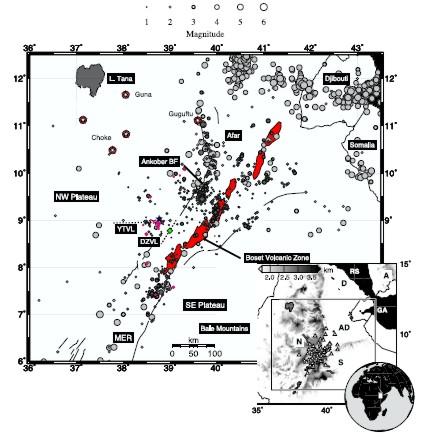 Afar lower crustal earthquakes Keir et al 2009