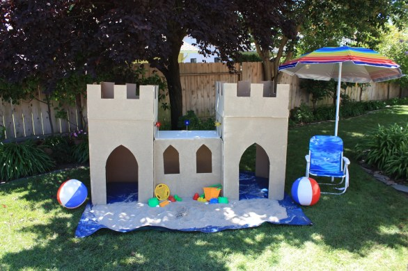 Life Size Sand Castle - Backyard Beach Party