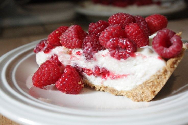 Raspberry Marshamallow Cream Pie