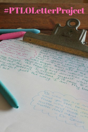PTLO Letter Project Pinterest