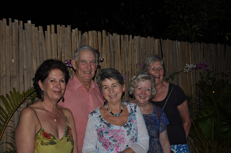 The group on their Cambodia holidays