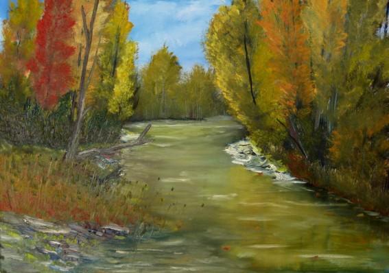 Peintures  lhuile de rivires et de lacs paysages en