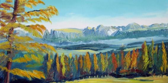 Dipinti ad olio di paesaggi di montagna  Christian Seebauer