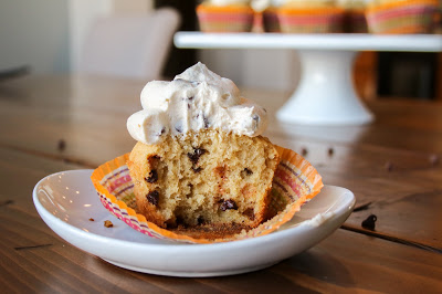 {Gluten Free} Chocolate Chip Cookie Dough Cupcakes