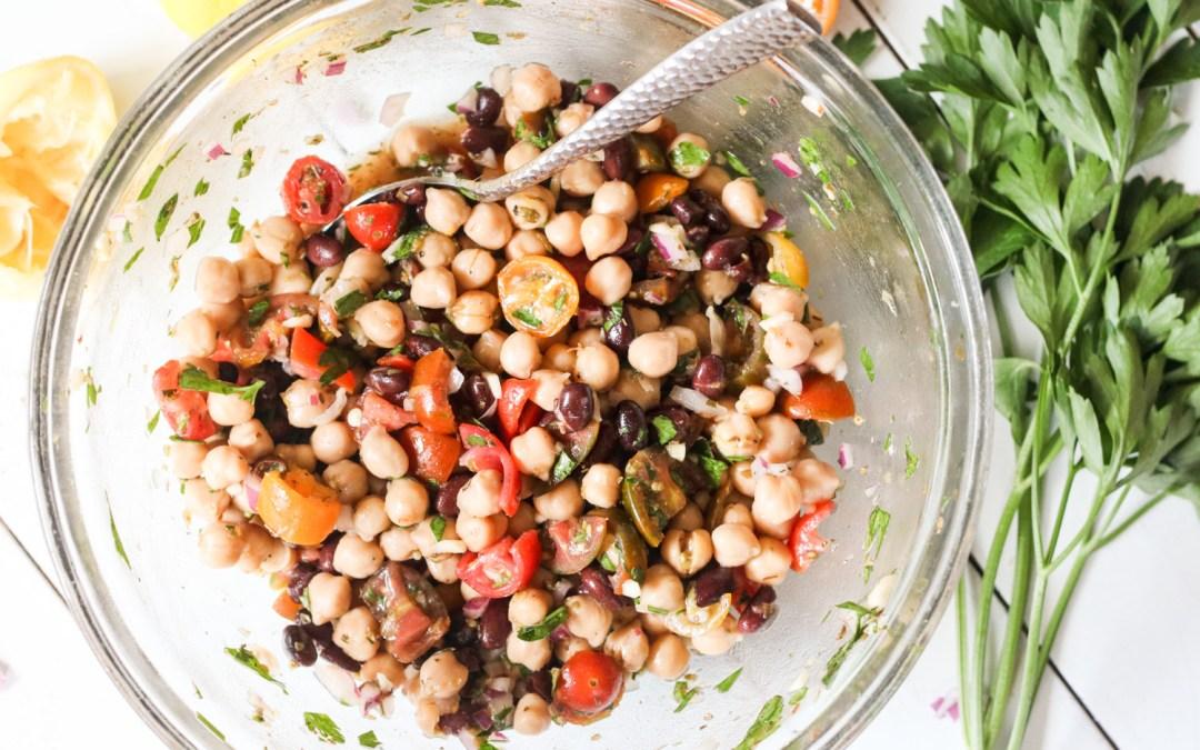 Mediterranean Chickpea Salad {Gluten Free, Vegan}