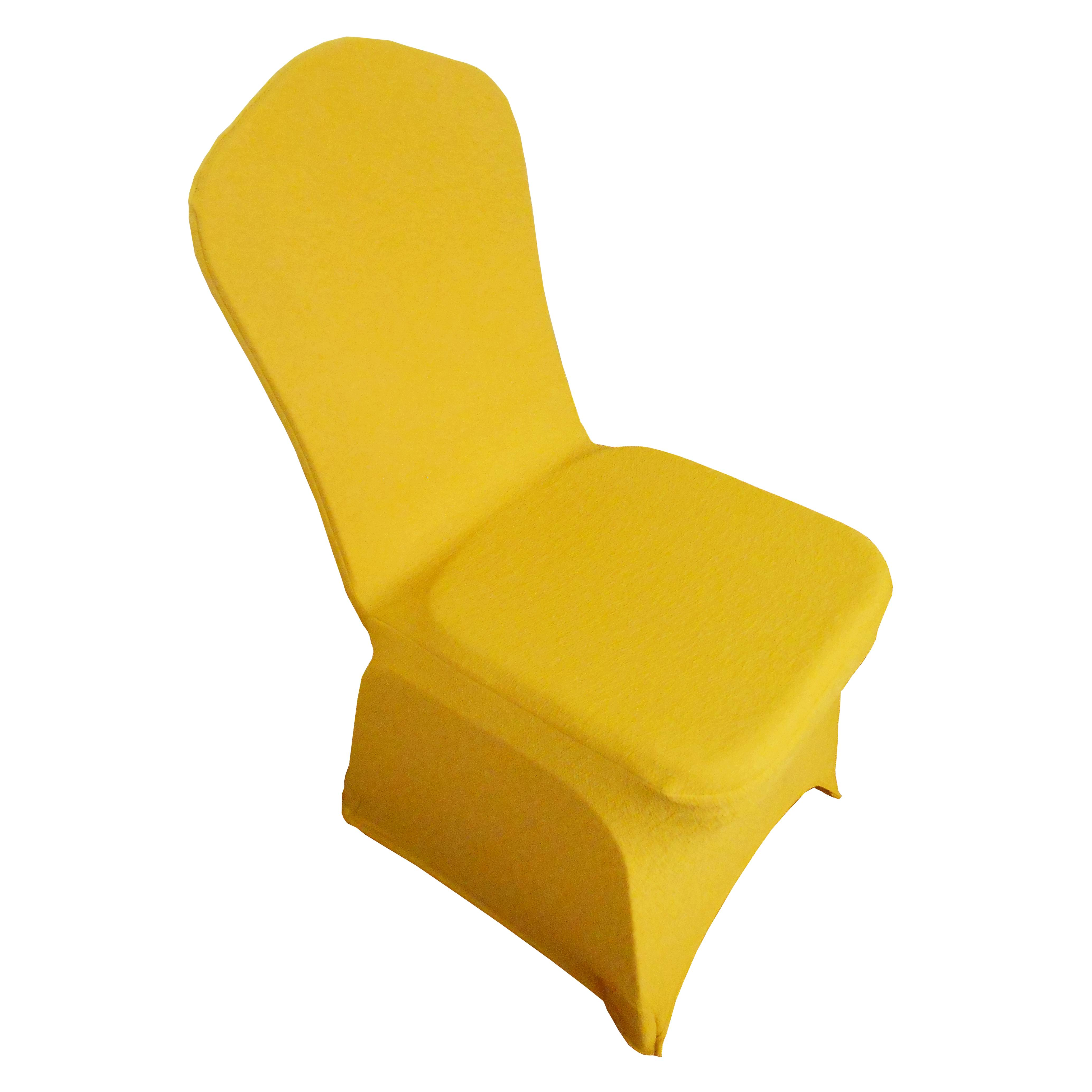 yellow spandex chair sashes mid century modern chairs leather guangzhou seechin hotel supplies production co ltd double layer cover