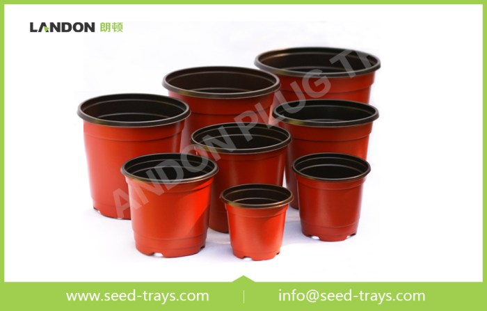 Color Plastic Flower Pots