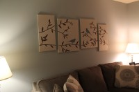 DIY wall art birds branches canvas - See Debt Run | See ...