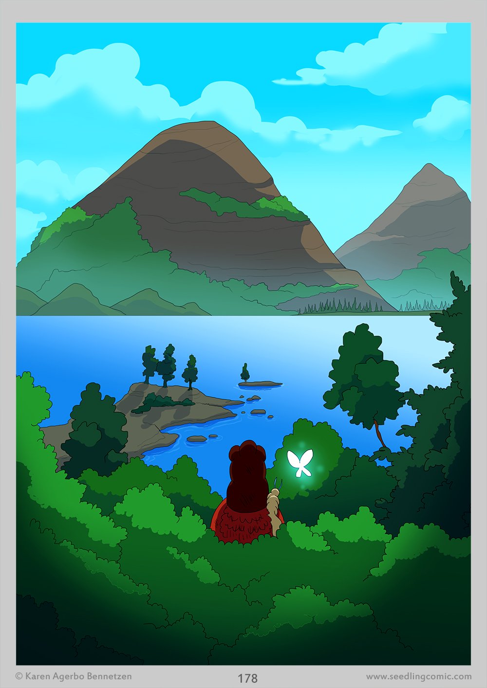 If you couldn't tell, I do love making these one frame/full page vistas.