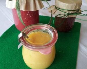 lemon curd, cranberry applesauce, rum apple butter