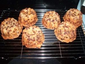 chocolate hazelnut fruitcakes