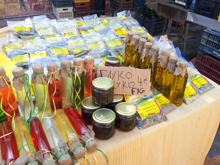 raki, honey, and herbs