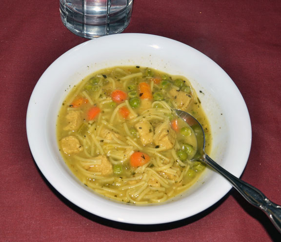 vegetarian chicken soup