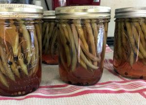 pickled skinny beans