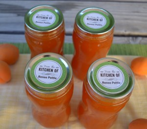 apricot syrup with labels