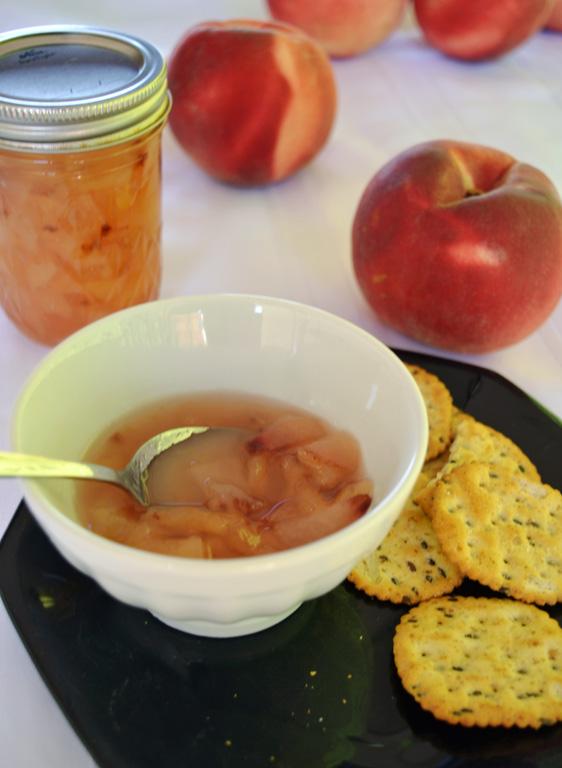 white peach prosecco jam
