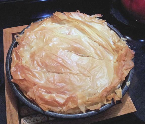 whole savory squash pie