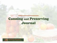 Canning and Preserving Journal