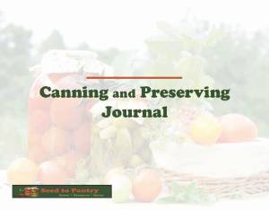 canning journal