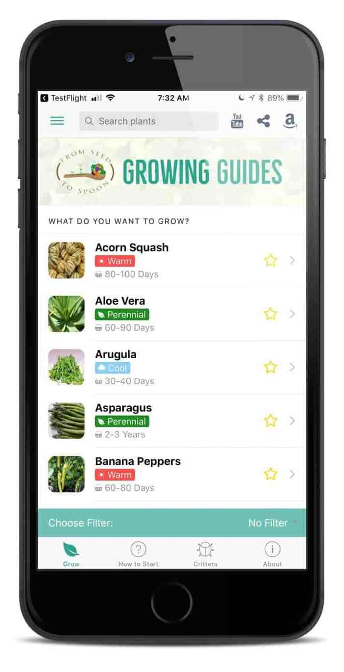 Learn how to grow, harvest, & cook over 70 different foods!