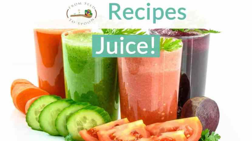 Juice recipe blog post